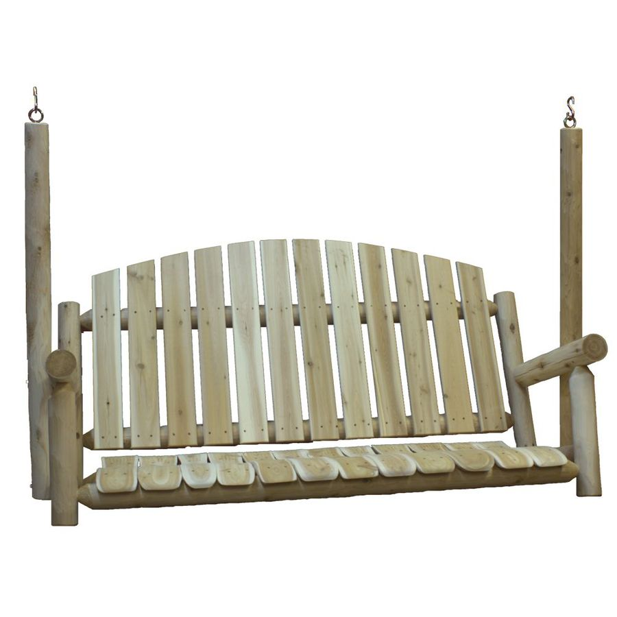 shop lakeland mills 3 seat wood rustic porch swing at