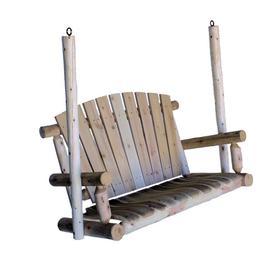 Lakeland Mills 2-Seat Wood Rustic Porch Swing