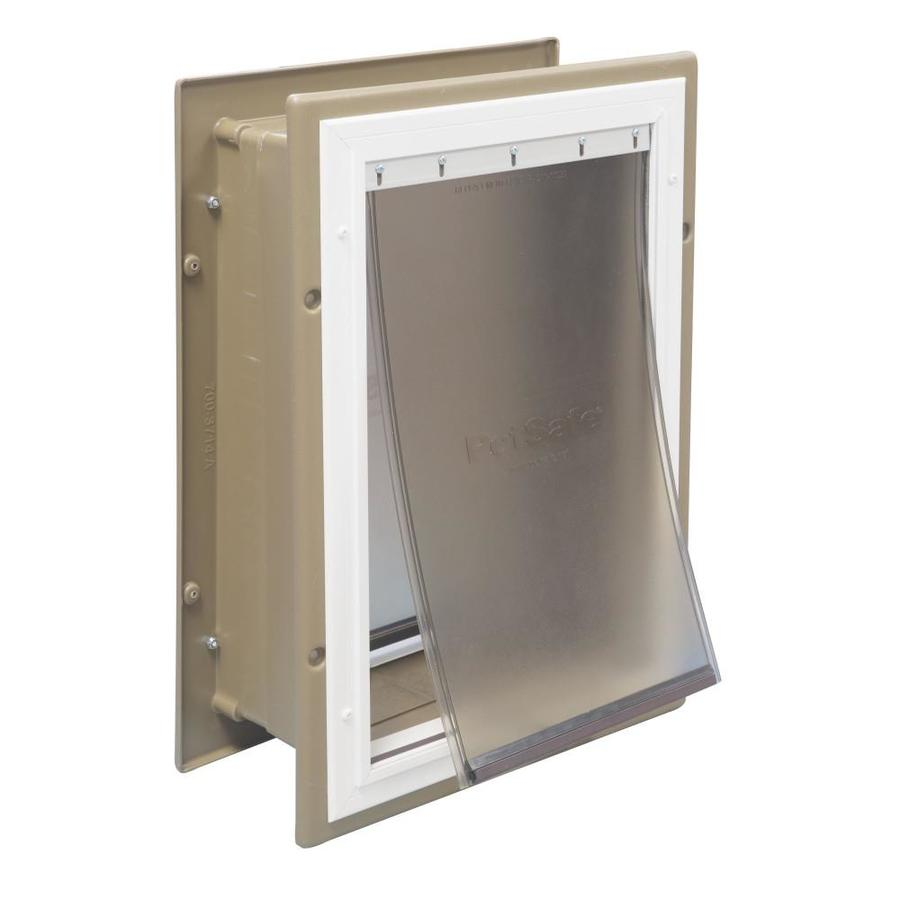 Shop PetSafe Large Tan Aluminum Wall Pet Door Actual 15 In X 10 In At Lowe