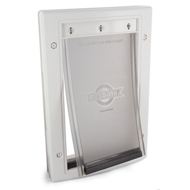 PetSafe Small White Plastic Door or Wall Pet Door