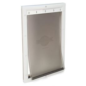 PetSafe Plastic Medium White Plastic Door or Wall Pet Door (Actual: 12.25-in x 8.125-in)