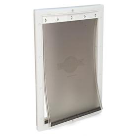 PetSafe Plastic Large White Plastic Door or Wall Pet Door (Actual: 16.25-in x 10.125-in)