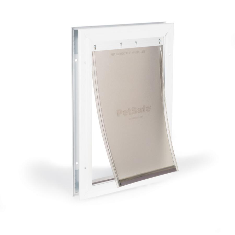 shop petsafe medium white aluminum pet door actual