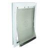 PetSafe Aluminum Medium White Aluminum Pet Door (Actual: 12.25-in x 8.25-in)