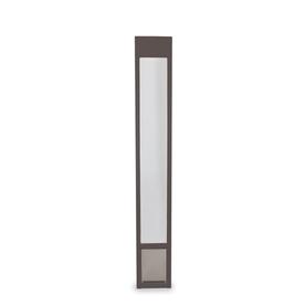 shop petsafe medium bronze aluminum sliding pet door at