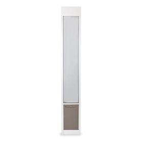 PetSafe Patio Panel Large White Aluminum Sliding Pet Door (Actual: 16.375-in x 10.25-in)