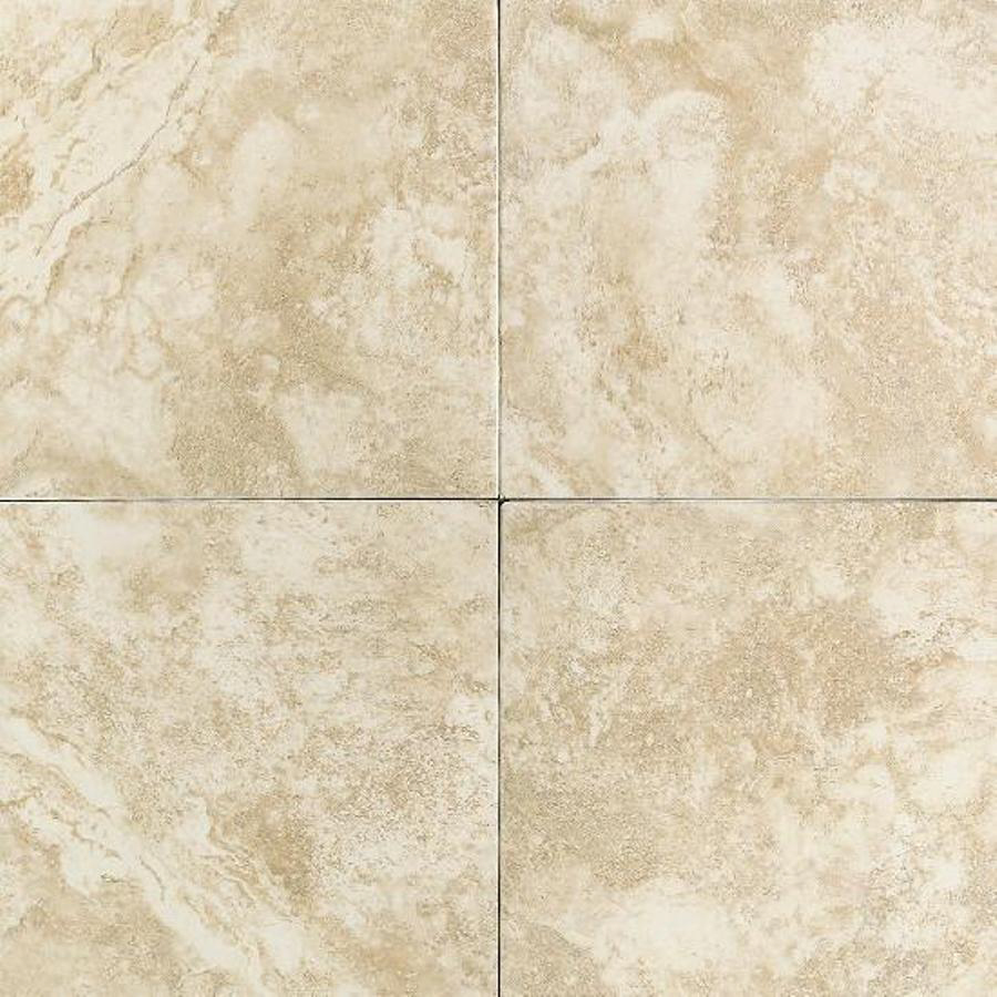 Cream Ceramic Floor Tile Actuals 12 In X 12 In At