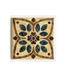 "American Olean 4-1/4"" x 4-1/4"" Decorative Design Geometric Ceramic Square Accent Tile"