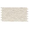 American Olean Costa Rei Pietre Bianca Glazed Porcelain Mosaic Random Indoor/Outdoor Listello Tile (Common: 9-in x 12-in; Actual: 12.12-in x 19.5-in)
