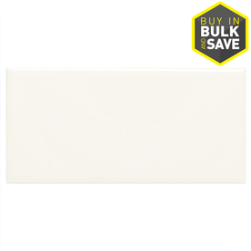 American Olean 3-in x 6-in Starting Line White Gloss Ceramic Wall Tile