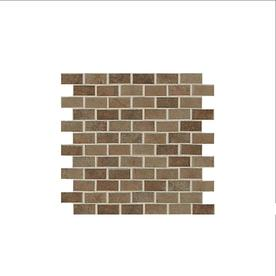 American Olean Cicerone Noche Subway Mosaic Ceramic Wall Tile (Common: 12-in x 12-in; Actual: 11.87-in x 11.87-in)