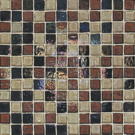 American Olean 2-in x 4-in Solare Autumn Glass Wall Tile
