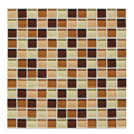 American Olean 12-in x 12-in Delfino Glass Marshmallow Glass Wall Tile