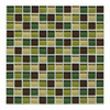 American Olean 12-in x 12-in Delfino Glass River Bank Glass Wall Tile