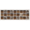 American Olean 2-Pack 6-in x 2-in Walnut Natural Wall Tile