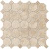 American Olean 12-in x 12-in Regent Champagne Ceramic Mosaic Floor Tile (Actuals 12-in x 12-in)