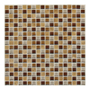 American Olean Delfino Glass Terra Blend Uniform Squares Mosaic Glass Wall Tile (Common: 12-in x 12-in; Actual: 12-in x 12-in)