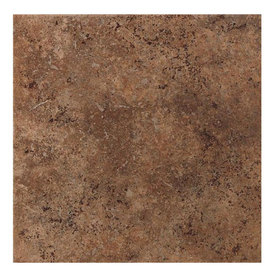 American Olean 8-Pack Vallano Dark Chocolate Glazed Porcelain Indoor/Outdoor Floor Tile (Common: 18-in x 18-in; Actual: 17.75-in x 17.75-in)