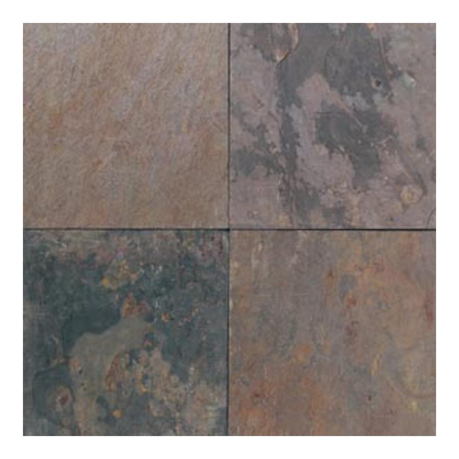 Shop american olean 6 pack 16 in x 16 in indian multicolor for 16 floor tile