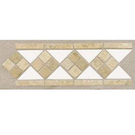 American Olean Starting Line White Gloss Ceramic Listello Tile (Common: 4-in x 12-in; Actual: 4-in x 12-in)