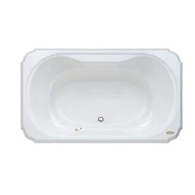 bellavista white acrylic hourglass in rectangle drop in bathtub