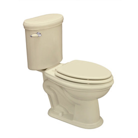 Jacuzzi Era Almond 1.6 GPF Elongated 2-Piece Toilet