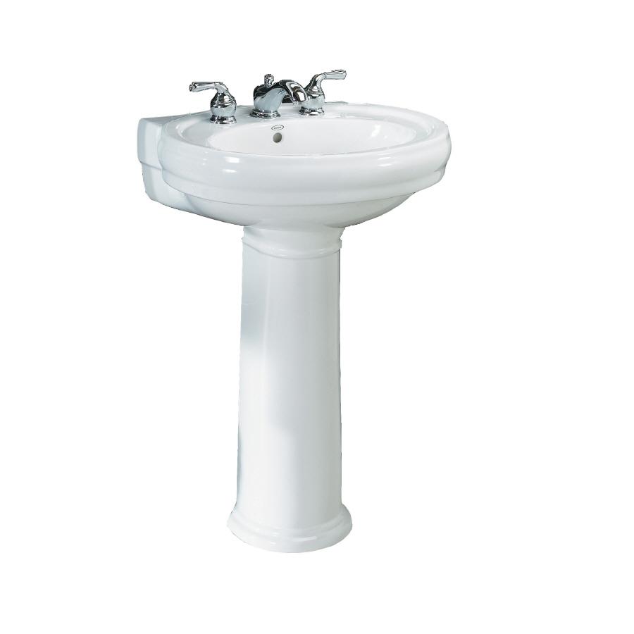 Shop Jacuzzi Era White Complete Pedestal Sink At