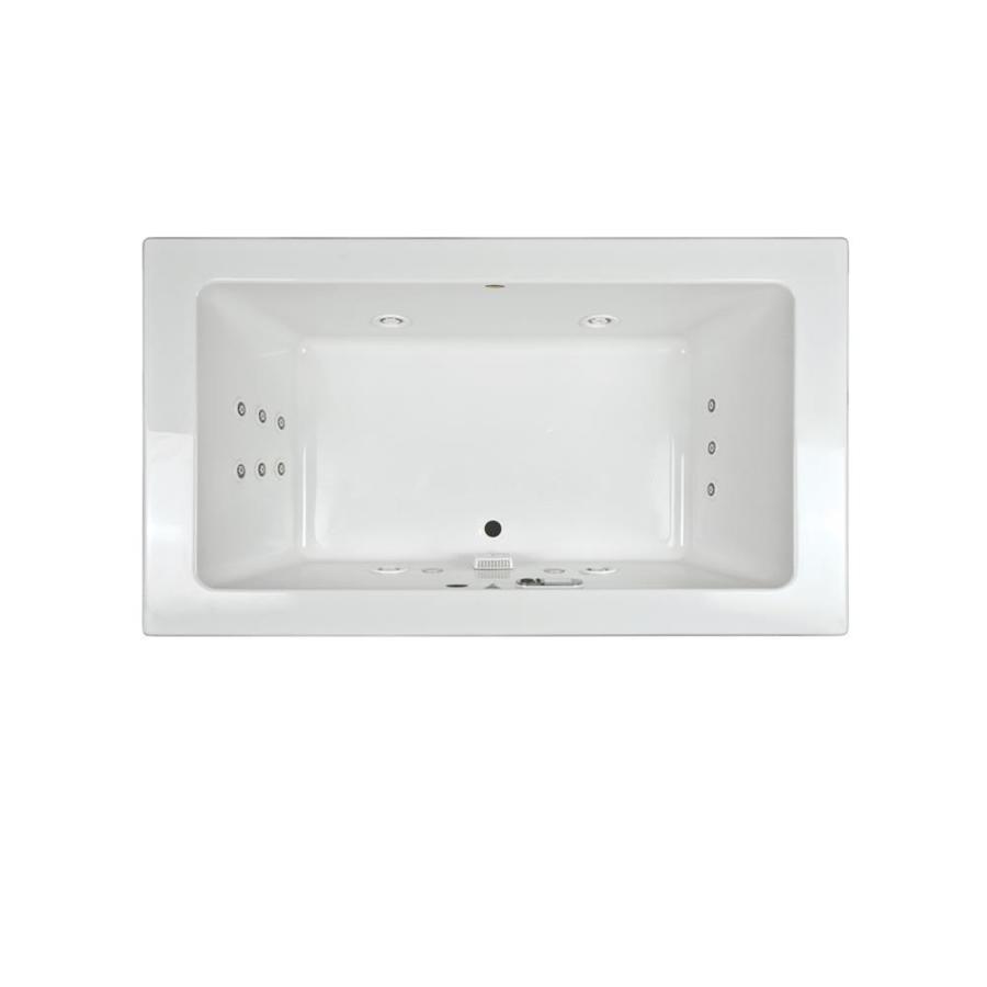 Shop Jacuzzi Sia 2-Person White Acrylic Rectangular Whirlpool Tub ...