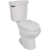 Jacuzzi Perfecta White 1.28 GPF High Efficiency WaterSense Elongated 2-Piece Toilet