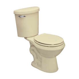 Jacuzzi Perfecta Almond 1.6-GPF (6.06-LPF) 12-in Rough-in Round 2-Piece Standard Height Toilet