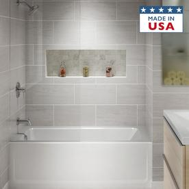 Can you tile over fiberglass shower stalls bathroom for Acrylic vs porcelain tub