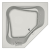 Jacuzzi 60-in L x 60-in W x 21-in H Primo 2-Person White Corner Drop-In Whirlpool Tub