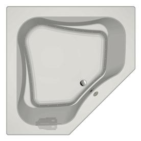 Jacuzzi Primo 60-in L x 60-in W x 21-in H White Acrylic 2-Person Corner Drop-in Air Bath