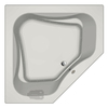 Jacuzzi Primo 60-in L x 60-in W x 21-in H Acrylic 2-Person-Person Corner Drop-in Air Bath