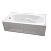 Jacuzzi Amiga Acrylic Oval in Rectangle Whirlpool Tub (Common: 36-in x 72-in; Actual: 20.75-in x 36-in x 72-in)