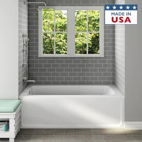 Display product reviews for Primo White Acrylic Rectangular Skirted Bathtub  with Left-Hand Drain (