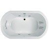 Jacuzzi Anza 2-Person White Acrylic Oval Drop-in Whirlpool Tub (Common: 42-in x 72-in; Actual: 26-in x 42-in)