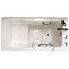 Ristorre Oyster Acrylic Rectangular Walk-in Bathtub with Front Center Drain (Common: 30-in x 60-in; Actual: 38.5-in x 30-in x 60-in)