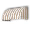 Awntech 244.5-in Wide x 36-in Projection Stripe Waterfall WindowDoor Awning