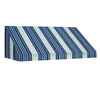 Awntech 484.5-in Wide x 36-in Projection Stripe Slope WindowDoor Awning