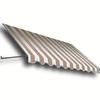 Awntech 40.5-in Wide x 24-in Projection Stripe Open Slope Window/Door Awning