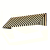 Awntech 604.5-in Wide x 36-in Projection Stripe Slope WindowDoor Awning