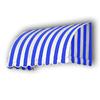 Awntech 52.5-in Wide x 36-in Projection Stripe Waterfall WindowDoor Awning