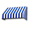 Awntech 40.5-in Wide x 48-in Projection Stripe Slope WindowDoor Awning