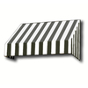 Awntech 604.5-in Wide x 48-in Projection Stripe Slope WindowDoor Awning