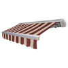 Awntech 16-ft Wide x 10-ft 2-in Projection Burgundy/Tan Striped Slope Patio Retractable Remote Control Awning