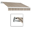 Awntech 10-ft Wide x 8-ft Projection Brown/White Striped Slope Patio Retractable Manual Awning