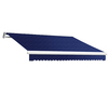 Awntech 12-ft Wide x 10-ft Projection Navy Slope Patio Retractable Manual Awning