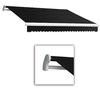 Awntech 16-ft Wide x 10-ft 2-in Projection Black Slope Patio Retractable Manual Awning