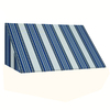 Awntech 100.5-in Wide x 24-in Projection Stripe Slope WindowDoor Awning